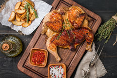 Grilled fried roast Chicken tobacco Royalty Free Stock Photos