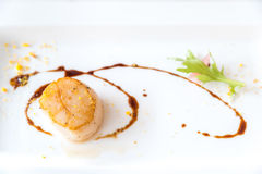 Grilled fried scallop Stock Photography