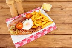 Gammon Egg And Chips Meal Stock Images