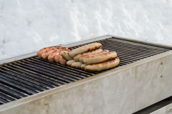 Grilled German sausage Stock Images