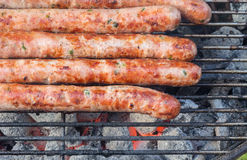 Grilled german sausages. Royalty Free Stock Photography