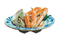 Grilled giant crab in Japanese style cooking Stock Image