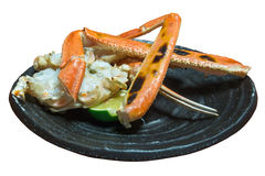 Grilled giant crab in Japanese style cooking Royalty Free Stock Photography