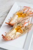 Grilled giant prawn lobster Stock Photo