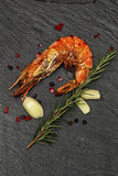 Grilled Giant Prawns Stock Image