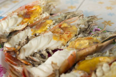 Grilled giant river prawn Royalty Free Stock Photos