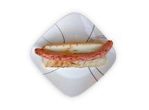 Grilled Gourmet Hotdog Royalty Free Stock Photo