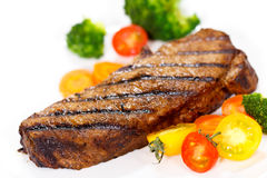 Grilled Gourmet Steak with Broccoli,Cherry Tomato Royalty Free Stock Photo