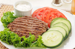 Grilled ground beef patty Royalty Free Stock Image