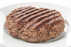 Grilled ground sirlion pattie Stock Photography