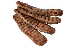 Grilled a haché le chiche-kebab de Lula Dinde, poulet ou boeuf grillé image stock