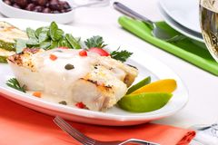 Grilled Halibut Royalty Free Stock Photos