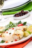 Grilled halibut Royalty Free Stock Photo