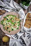 Grilled halloumi cheese salad Royalty Free Stock Photo
