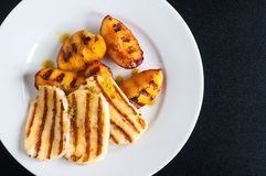 Grilled halloumi cheese Royalty Free Stock Images