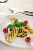 Grilled Halloumi cheese Stock Photography