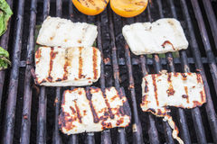 Grilled halloumi Royalty Free Stock Images