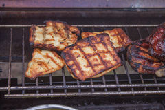 Grilled halloumi Royalty Free Stock Image