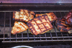 Grilled halloumi Stock Photography