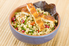 Grilled Halloumi and Tabbouleh Royalty Free Stock Photo
