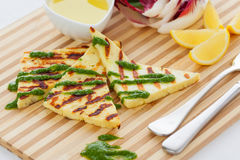 Grilled haloumi Stock Photography