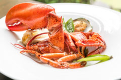 Grilled Halved Lobster Tails Royalty Free Stock Image