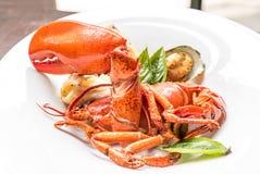 Grilled Halved Lobster Tails Stock Image