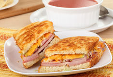 Grilled Ham And Cheese Stock Images