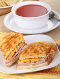Grilled Ham And Cheese Sandwich Stock Image