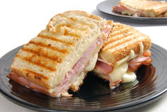Grilled ham and cheese Stock Photography