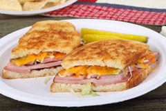Grilled Ham and Cheese Sandwich Royalty Free Stock Image