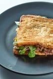 Grilled ham sandwich Stock Photo