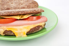 Grilled ham sandwich Stock Photos
