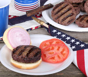 Grilled Hamburger Royalty Free Stock Photos