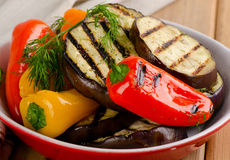 Grilled healthy vegetables   in  bowl Stock Photography