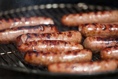 Grilled Hot Dogs Royalty Free Stock Photo