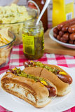 Grilled Hot Dogs Stock Photos
