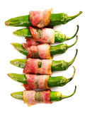 Grilled jalapenos wrapped in bacon Royalty Free Stock Image
