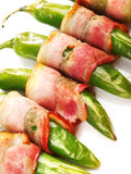 Grilled jalapenos wrapped in bacon Stock Photography