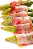 Grilled jalapenos wrapped in bacon Royalty Free Stock Photography