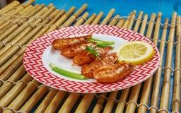 Grilled Jamaican Jerk Shrimp Stock Images