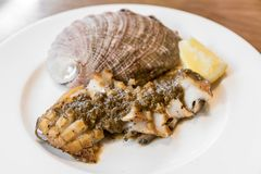 Abalone steak Royalty Free Stock Photography