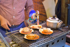 Grilled japanese scallop Royalty Free Stock Image
