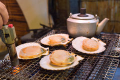 Grilled japanese scallop Royalty Free Stock Photos