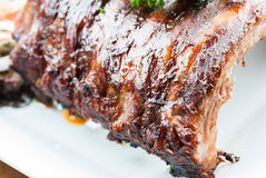Grilled juicy barbecue pork ribs Royalty Free Stock Photography
