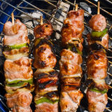 Grilled kabobs Stock Photos
