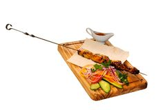 Grilled kebab Stock Photos