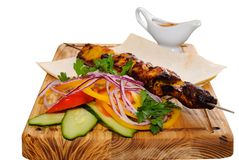 Grilled kebab Stock Image