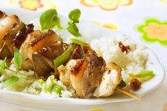 Grilled kebab Stock Image