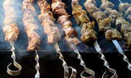 Grilled kebab Royalty Free Stock Photos
